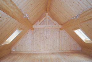 Drewno klejone poddasze