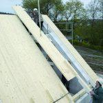 Drewno klejone dach