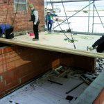 Drewno klejone strop