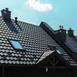 Blachodachówka REN Blachy Pruszyński kolor grafitowy wentylacja dachu