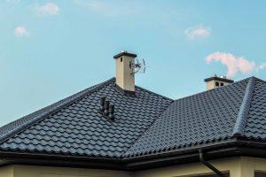 blachodachówka OPTIMA Blachy Pruszyński kolor grafitowy wentylacja dachu