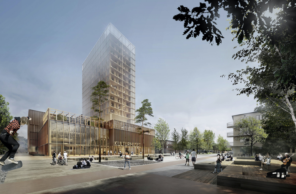 Najwyższy drewniany budynek śwata wsystemach ALUPROF-net